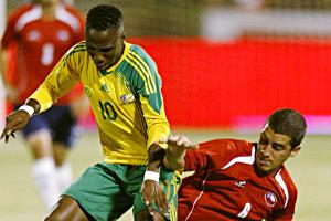 Teko Modise in action against Chile. Backpagepix