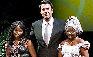 Ben Affleck and African Women being honored