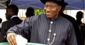 Pres. Goodluck Jonathan casts vote