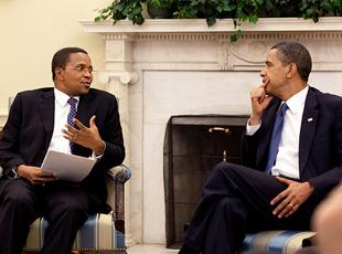 Presidents Kikwete and Obama