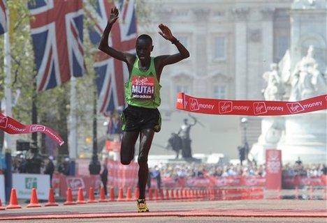 Mutai wins the race